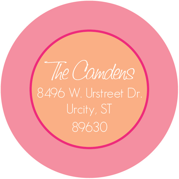 Personalized Peachy Pink Return Address Label