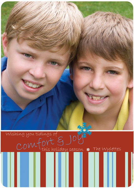 Personalized Comfort Stripes Card