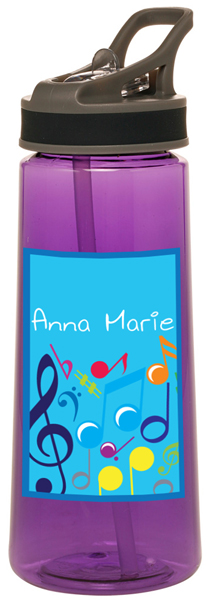 Bright Notes Aqua Water Bottle