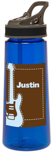 Blue Guitar Personalized Water Bottle Kids Water Bottles