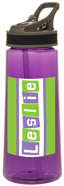 Personalized Letter Shapes Water Bottle