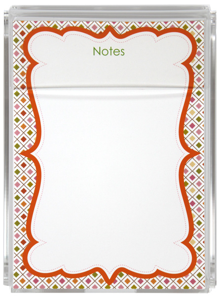 Personalized Spring Diamonds Memo Sheets G&G