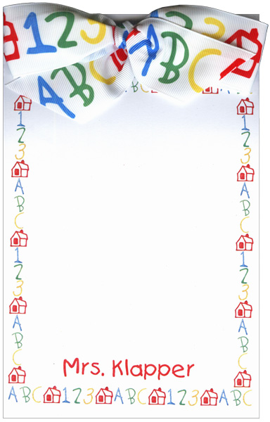 123ABC Bow Notepad