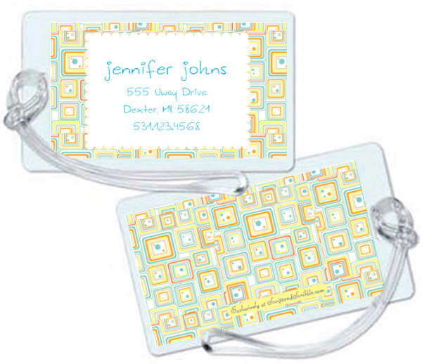 Personalized Abstract Citrus Luggage Tag