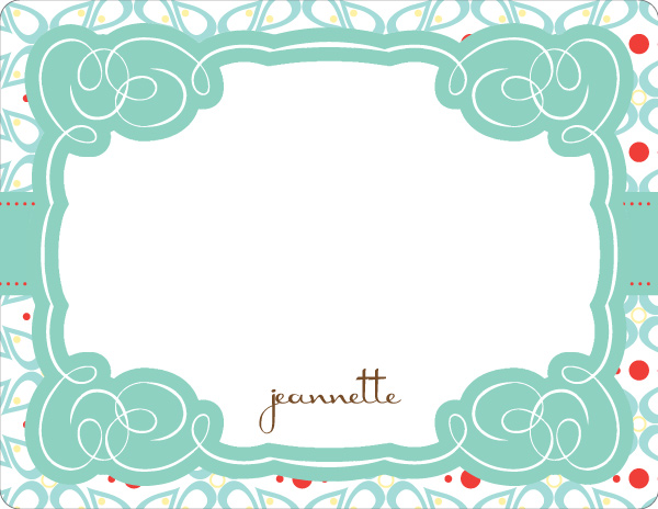 Personalized Abstract Floral Note Card