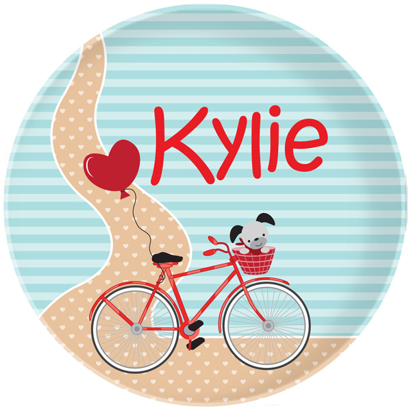 Personalized Bicycle Path Plate