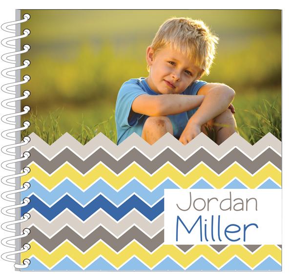 Personalized Blue Zig Zags Journal / Notebook