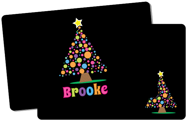 Personalized Bright Bulbs Tree Placemat