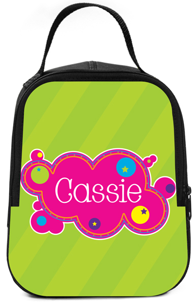 Personalized Bubbly Bubbles Lunch Box