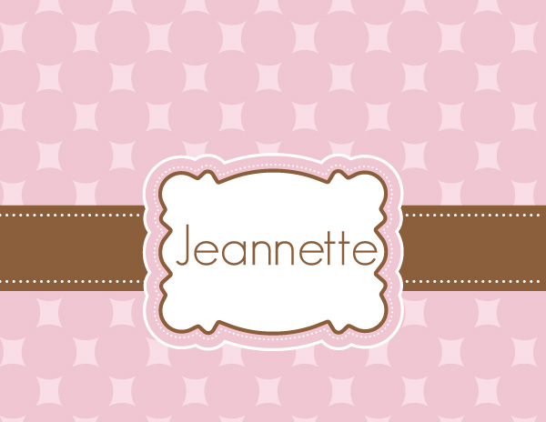 Personalized Chocolate Pink Foldover Card