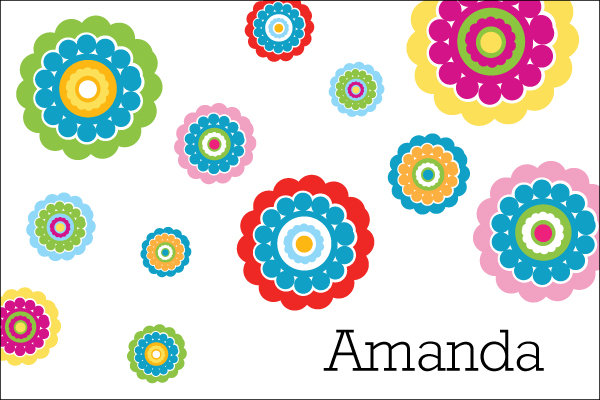 Personalized Colorful Flowers Postcard