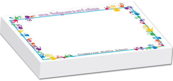 Personalized Colorful Hands Bulky Notepad