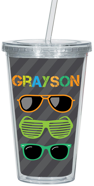 Cool Shades Clear Acrylic Tumbler