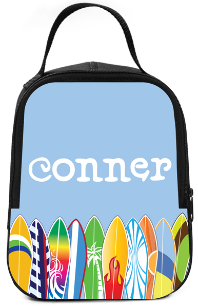 Personalized Cool Surfboards Lunch Box