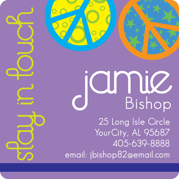Personalized Crazy Peace Calling Card