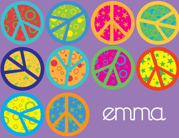 Personalized Crazy Peace Foldover Card