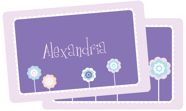 Personalized Cutesy Flowers Placemat