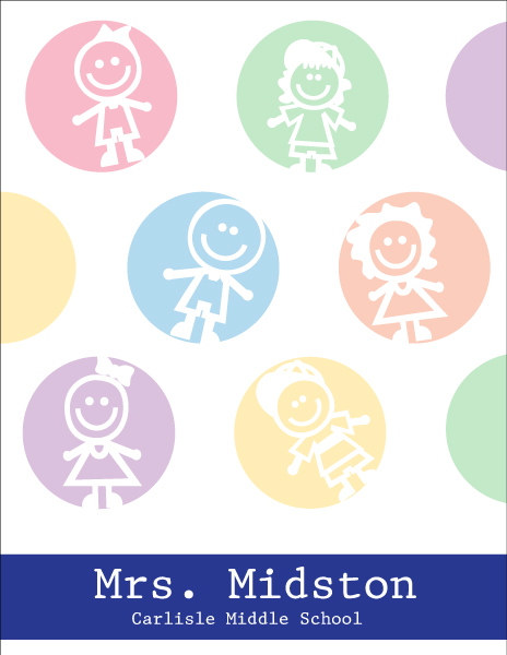 Personalized Dots of Kids Large Notepad