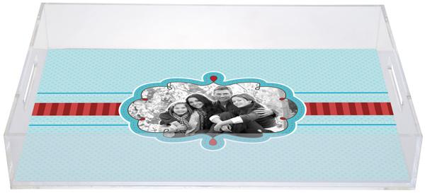 Personalized Dots Stripes Acrylic Tray