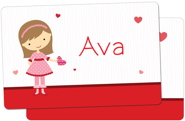 Personalized Be Mine Girl Placemat