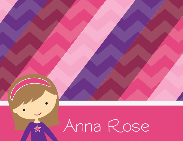 Personalized Girly Girl Foldover Card