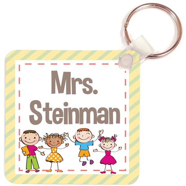 Personalized Happy Class Key Chain