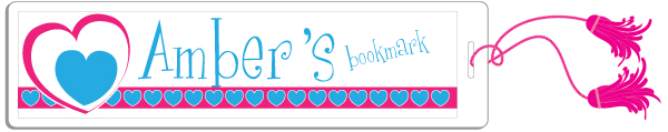 Personalized Heartline Pink Bookmark