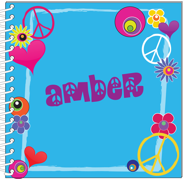 Personalized Hippy Peace Journal / Notebook