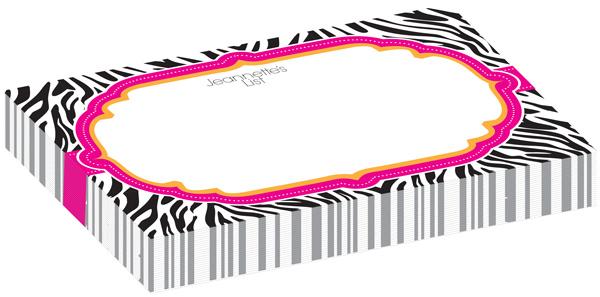 Personalized Hot Zebra Bulky Pad