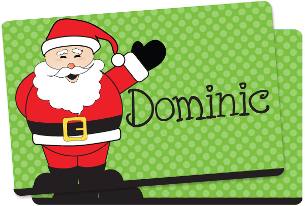 cheerful santa placemat custom kids placemat plastic placemat christmas