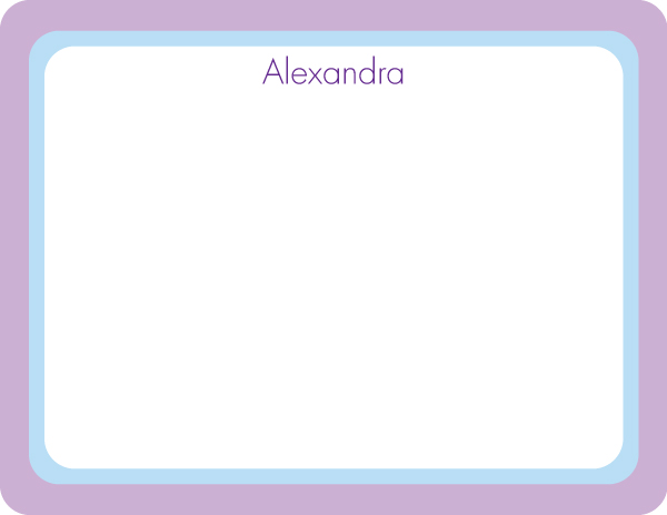 Personalized Lilac Blue I Note Card