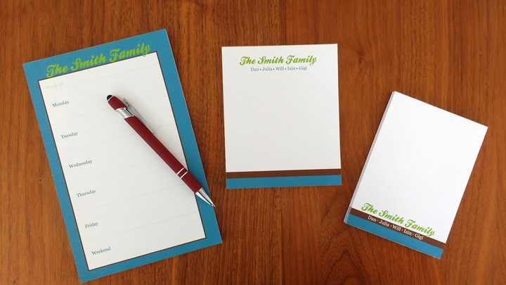 personalized adults notepad sets customized