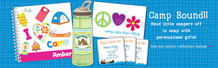 Personalized Camp Gifts and Gear for Kids