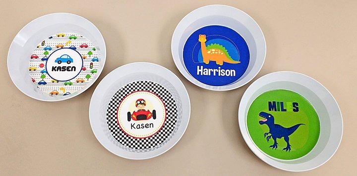 Melamine Bowls for Kids & Personalized Kids Melamine Bowls u0026 Plates