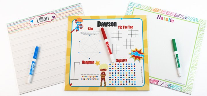 Personalized Dry Erase Boards