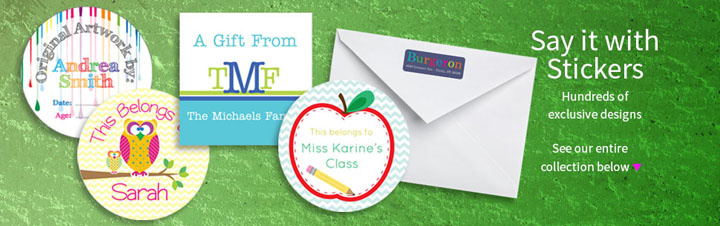 Personalized Holiday Gift Stickers & Address Labels -