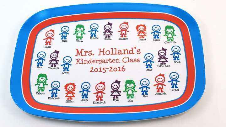 Melamine Plates \u0026 Platters for Teachers. happykidsteacherplatter_720  sc 1 st  Script and Scribble & Personalized Teachers Appreciation Melamine Plates \u0026 Platters