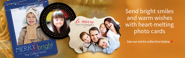 Personalized Holiday Printed Photo Cards