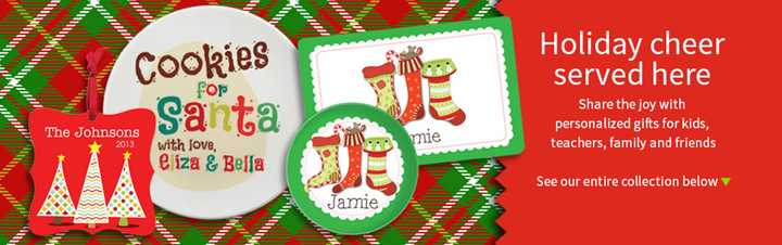 Personalized Christmas Holiday Themed Gifts
