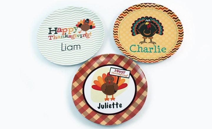 Thanksgiving Melamine Plates Bowls u0026 Platters. kidsthanksgivingplates72_720 & Customized Thanksgiving Melamine Plates Bowls Platters Gift Online
