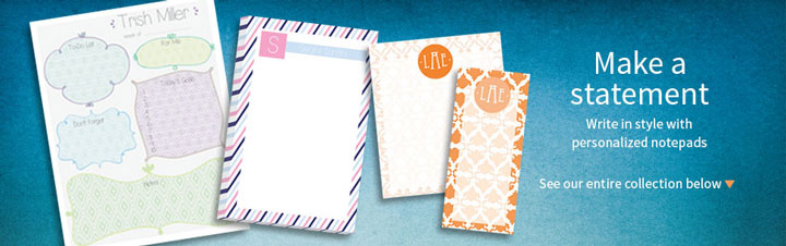 Personalized Notepads for Kids, Women & Teachers
