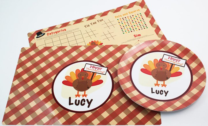 Thanksgiving Dinnerware Plates Mugs and Placemats. thanksgivingplasticmats7_720  sc 1 st  Script and Scribble & Personalized Thanksgiving Dinnerware Plates Mugs u0026 Placemat