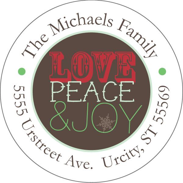 Personalized Full of Joy Address Label