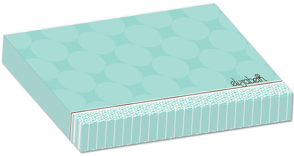 Personalized Mint Chocolate Circles Bulky Pad