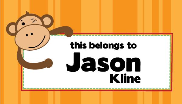 Personalized Monkey Business Waterproof Sticker