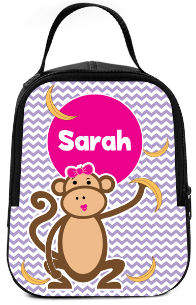 Personalized Plain Old Girly Bananas Lunch Box