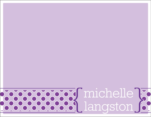 Personalized Purple Dots Too Foldover Card