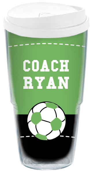 soccer boy coach travel cup personalized travel cup custom travel mug