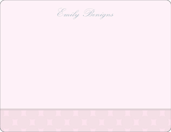 Personalized Soft Ornament Pink Note Card