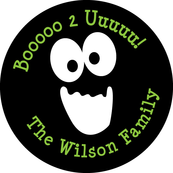 Personalized Spooky Gift Stickers
